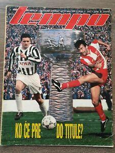Magazine TEMPO 1329 football Savicevic Red Star Mijatovic Partizan Belgrade 1991