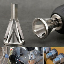 1pc Deburring External Chamfer Tool Stainless Steel Remove Burr Silver Drill Bit