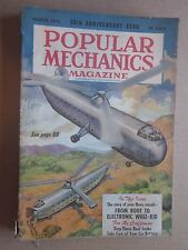1952 Popular Mechanics Magazine March issue Military Helicopters on cover