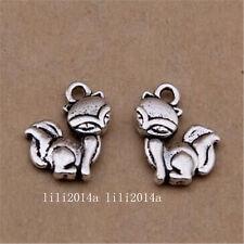 20pc Tibetan Silver Fox Animal Charms Pendant Beads Jewellery Making  PL1080