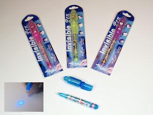 10x UV-Geheimstifte UV Licht Lampe Geheimstift Zauberstift mit Lampe Spickzettel