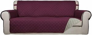 PureFit Reversible Quilted Slipcover Couch Cover Kids Dogs Pets (Oversized Sofa)
