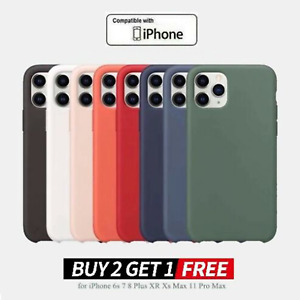 Liquid Silicone Case Thin Slim Hard Cover For iPhone 11 Pro XS Max XR X 8 7 Plus
