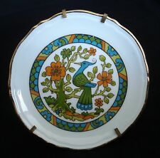 """LIMOGES PORCELAIN BIRD PLATE 4 3/4"""" WITH STAND PERFECT"""