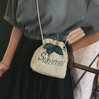 Summer Beach Women Woven Bag Handmade Shoulder Bag Purse Bag Handbags Fashion tx