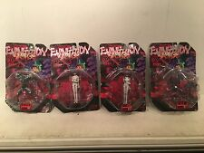 NEW NEON GENESIS EVANGELION ACTION FIGURE LOT: MICRO SERIES 01: 2,3,5,& 6