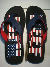 MEN'S REEF RED/WHITE/BLUE AMERICANA  WATERS FLIP FLOP BEACH SANDALS SIZE11 NWT