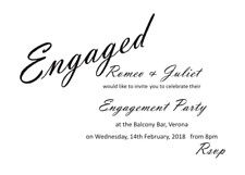 Love Engagement Invitations  - 7'' x 5'' - 50 cards with envelopes