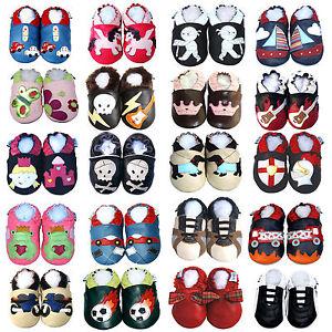 Soft Sole Leather Baby Shoes Boy Girl Infant Kids Gift Prewalker Moccasin 0-3 Y