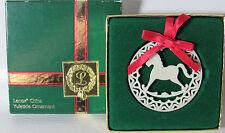 Lenox Yuletide Series Rocking Horse Pierced Ornament in Original Box (1Zco)