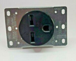 Leviton 30A Flush Mount Black 6-30R Power Outlet