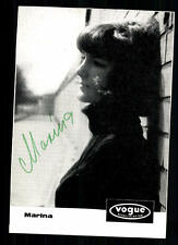 Marina Autogrammkarte Original Signiert ## BC 15218
