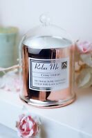 Candle Gift Set Cosy Home Scented Soy Wax Rose Gold Bell With Inspired Quotes