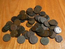 Lot of 81 Indian Head Cents & 2 x 2 Cents Cull/Damaged/Corroded/Holed & More