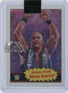 Stone Cold Steve Austin 2020 Topps WWE Transcendent VIP Rainbow Foil Card /50