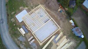 Holzrahmenhaus Bausatz 13,20 x 9,20 m in Eigenleistung Rohbau