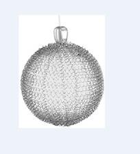 GKI/BETHLEHEM Lights 6 inch Silver Glass LED Maille Sphere 100026991