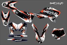 KIT ADESIVI GRAFICHE SKULLZ KTM SX 125 150 250 2007 2008 2009 2010