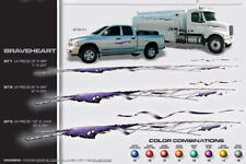 Image Works Media 4pc. BRAVE-HEART Car Or Truck Graphic Silver Neutral Kit