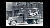 Vintage Miller High Life Beer Truck PHOTO Bar Sign Ad Advertisement Iowa 1950s