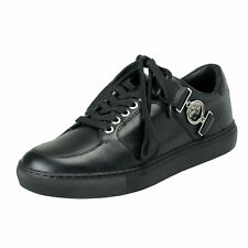 Versace Collection Men's Black Leather Fashion Sneakers Shoes 6 7 8 9 10 11