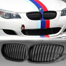 For BMW E60 E61 5 Series M5 03-10 Front Black Sport Wide Kidney Grilles Grill