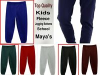 Girls Boys Kids Jogging Bottoms School PE Fleece Tracksuit Trousers Age 3Y-14Y
