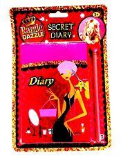 Razzle Dazzle LOCKABLE SECRET NOTEBOOK + PENCIL Girls Fun Diary