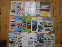 Brekina Autokatalog Konvolut 44 Stck Modellautoprospekte Katalog Prospekt