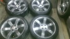 MG TF / MGF square 6 spoke, gunmetal grey 16'' Alloy Wheels & tyres refurbished