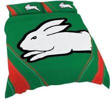NRL SOUTH SYDNEY RABBITOHS Quilt Doona Cover Pillowcase Set Double -