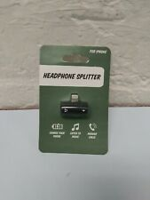 Headphone Splitter for iPhones * IPads - Charge, Listen & Talk New in Package