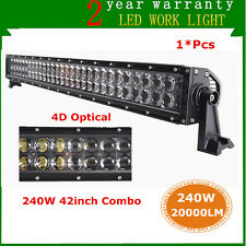 """42""""inch 240W LED Light Bar Combo Offroad Truck Car Boat Tractor Driving 4D+ Lens"""