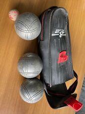 Paire de boules de pétanque anciennes marque JB, Triplette 730 / XJBX