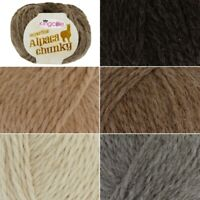 King Cole Superfine Alpaca Soft Chunky Yarn Knitting Wool Crochet 50g Ball