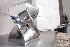 Sitzhocker Hocker Alu TWIST 45 cm  poliert Retro Lounge Design Beistelltisch