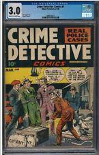 Crime Detective Comics Vol. 1 # 1 - Fuje cover & art CGC 3.0. Very Nice Copy!