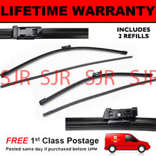 "FRONT AERO WINDSCREEN WIPER BLADES PAIR 28"" + 16"" FOR VOLKSWAGEN SHARAN 2010 ON"