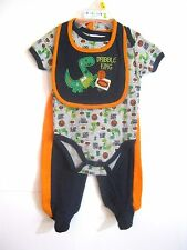 NEW W/T DUCK DUCK GOOSE BOYS 3 PIECE  OUTFIT SZ 0-3 MONTHS