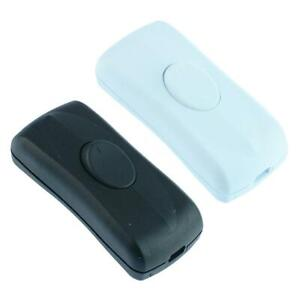 Black or White Inline Rocker Cord Switch 1A