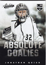 2013-14 PANINI ABSOLUTE JONATHAN QUICK ABSOLUTE GOALIES BOXING DAY THICK #8