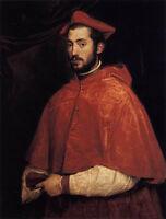 Beautiful Oil painting Tiziano Vecellio - Cardinal Alessandro Farnese canvas