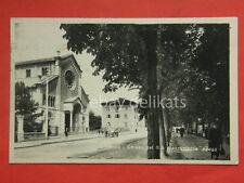 TRENTO vecchia cartolina chiesa SS Sacramento carro