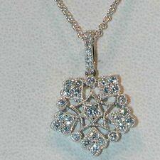 LOVELY VINTAGE STYLE DIAMOND PENDANT IN 18KT WHITE GOLD