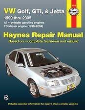 VW Golf Jetta GTI Haynes Repair Manual NEW 99-05 Owners Book Service