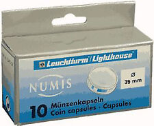 Lighthouse Coin Capsules - 39mm - 1 Box - Pack of 10