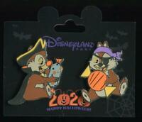 DLP DLRP Paris Halloween 2020 Chip and Dale 2 Pin Set Disney Pin 140601