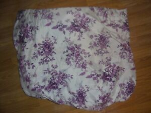 100% POLYESTER PURPLE FLORAL FITTED QUEEN SHEET