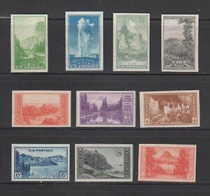 US,756-765,MNH ,VF,COMPLETE SET FARLEY 1935 NATIONAL PARKS,MINT NH