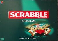 Mattel Games SCRABBLE Original Board Word Letter Game 1999 Edition Version